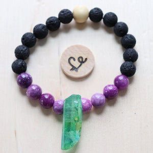 Rock On Gemstone Essential Oil Diffuser Bracelet-- FREE STICKER