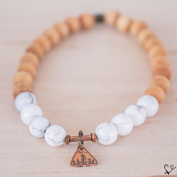The Mountains Are Calling Dainty Diffuser Essential Oil Bracelet