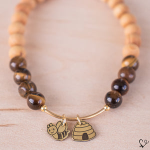 Bee and Hive Dainty Diffuser Bracelet for Essential Oils