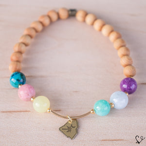 Rainbow Row Dainty Diffuser Essential Oil Bracelet