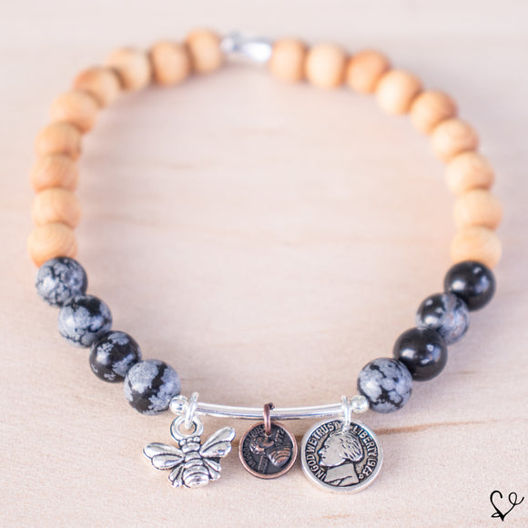 Bee the Change Dainty Diffuser Bracelet for Essential Oils