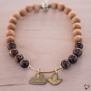 Serpent and Dove Dainty Diffuser Bracelet
