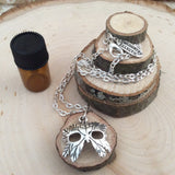 Oberon Leaf Mask Essential Oil Diffuser Necklace Made with Locally Sourced, Untreated Wood -- FREE SHIPPING