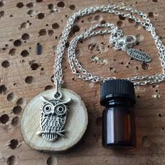Owl Essential Oil Diffuser Necklace -- FREE SHIPPING