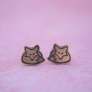 Fox Metal Earrings // The Gumball Jackpot Collection