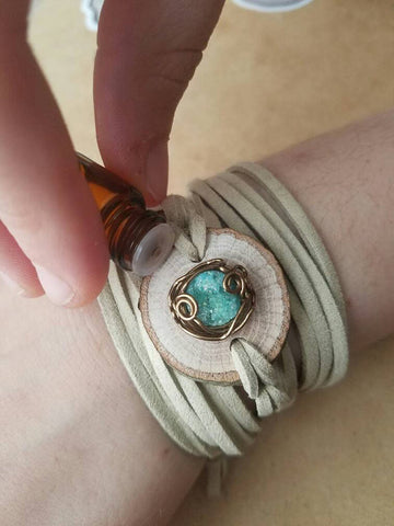 Druzy Wrap Diffuser Bracelet // FREE SHIPPING in the U.S