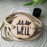 It is WELL Essential Oil Diffuser Bracelet -- FREE SHIPPING // engraved by hand