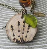 Bulk Order -- 10 Hand Engraved Diffuser Necklaces Made with Organic Wood -- FREE SHIPPING