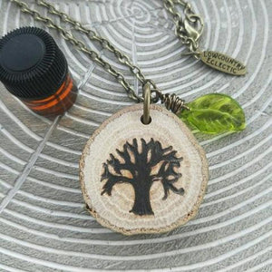 The ORIGINAL Statement Essential Oil Diffuser Necklace // Angel Oak -- FREE SHIPPING