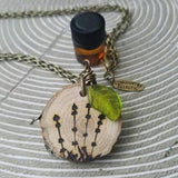 The ORIGINAL Statement Essential Oil Diffuser Necklace // lavender -- FREE SHIPPING