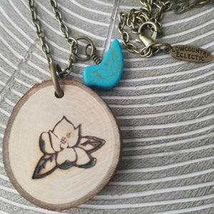 The ORIGINAL Statement Essential Oil Diffuser Necklace // Magnolia -- FREE SHIPPING