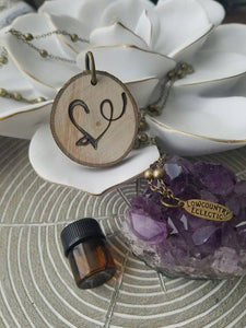 The ORIGINAL Statement Essential Oil Diffuser Necklace // LowcountryEclectic Heart-- FREE SHIPPING