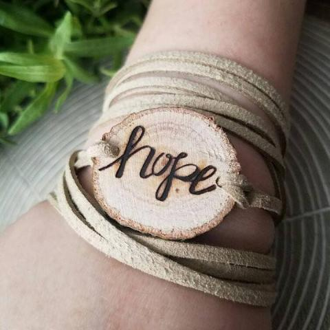 Hope Essential Oil Diffuser Bracelet -- FREE SHIPPING // engraved by hand