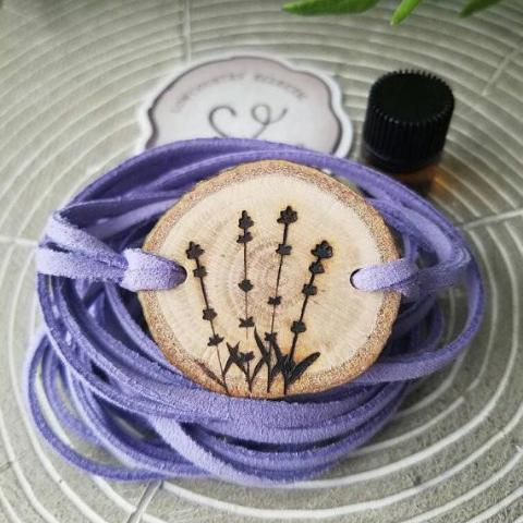 Lavender Essential Oil Diffuser Bracelet -- FREE SHIPPING // engraved by hand