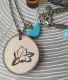 Bulk Order -- 20 Hand Engraved Diffuser Necklaces Made with Organic Wood -- FREE SHIPPING