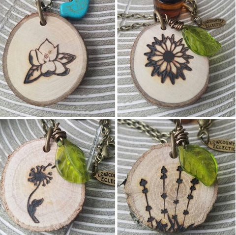 4 piece Flower Sisters Multi Pack // The ORIGINAL Statement Essential Oil Diffuser Necklace // -- FREE SHIPPING