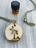 Palmetto Moon ORIGINAL Statement Essential Oil Diffuser Necklace // Palmetto -- FREE SHIPPING