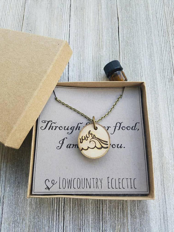 BENEFITS // The Salvation Army // Fire and Flood Statement Essential Oil Diffuser Necklace -- Free Shipping