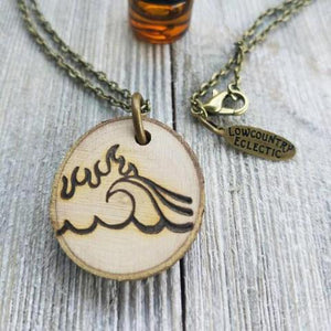 Fire and Flood Statement Essential Oil Diffuser Necklace -- Free Shipping