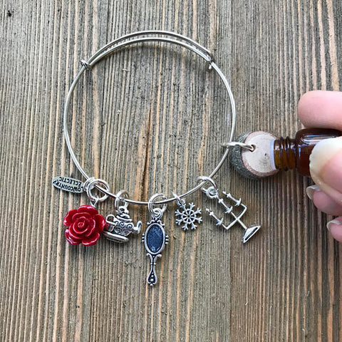 Beauty and the Beast Essential Oil Diffuser Bracelet-- FREE SHIPPING