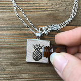 Pineapple Essential Oil Diffuser Necklace // The Statement Line