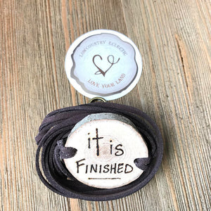 It is Finished Hand Lettered Essential Oil Diffuser Bracelet -- FREE SHIPPING