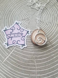 Wave Essential Oil Diffuser Necklace Made with Untreated Wood -- FREE SHIPPING