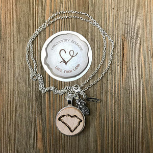 Love Your Land Essential Oil Diffuser Necklace // Handmade and Ships FREE