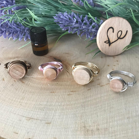 Wire Wrapped Diffuser Ring for Essential Oils