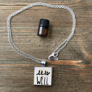 It is Well Essential Oil Diffuser Necklace// The Statement Line