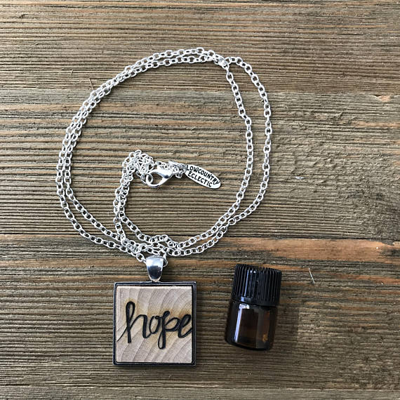 Hope Essential Oil Diffuser Necklace -- The Statement Line