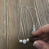 Howlite Delicate Essential Oil Diffuser Necklace Made -- FREE SHIPPING