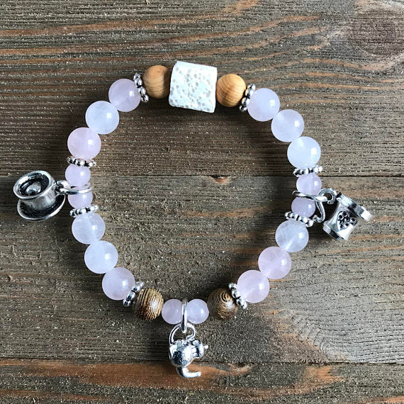 Mad Hatter Tea Party Essential Oil Diffuser Bracelet-- FREE SHIPPING