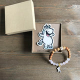 Unicorn Essential Oil Diffuser Bracelet-- FREE SHIPPING