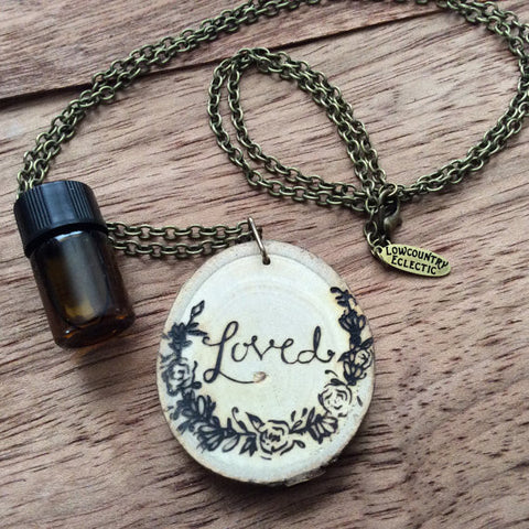 The ORIGINAL Loved Statement Essential Oil Diffuser Necklace -- FREE SHIPPING