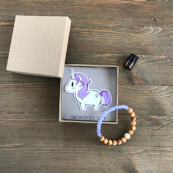 Unicorn Quartz Essential Oil Diffuser Bracelet-- FREE SHIPPING