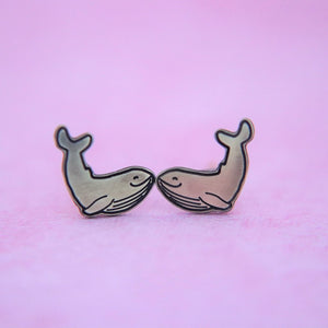Dainty Whale Earrings // The Gumball Jackpot Collection