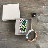 Charleston Gemstone Essential Oil Diffuser Bracelet-- FREE STICKER