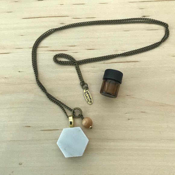 Marble Essential Oil Diffuser Necklace