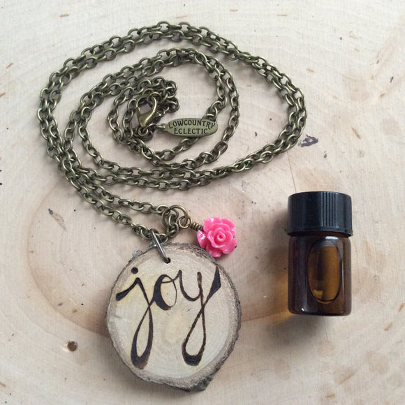 The ORIGINAL Statement Essential Oil Diffuser Necklace -- Joy