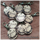 Wood Burned Diffuser Keychains 10 or more Wholesale Bulk Free Shipping