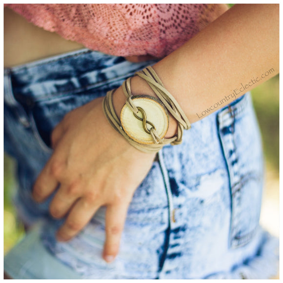 Brass Infinity Essential Oil Diffuser Bracelet -- FREE SHIPPING