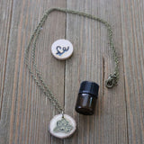 Magnolia Essential Oil Delicate Diffuser Necklace -- FREE SHIPPING // Exclusively Designed for Lowcountry Eclectic