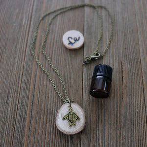 Sea Turtle Essential Oil Delicate Diffuser Necklace -- FREE SHIPPING // Exclusively Designed for Lowcountry Eclectic