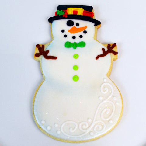Snowman Cookie - Top Hat and Bowtie