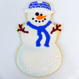 Snowman Cookie - Stocking Cap and Scarf