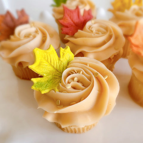 Autumn Leaves Cupcake