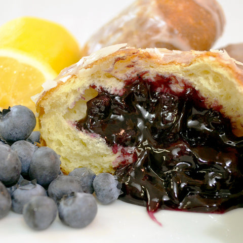 Blueberry-Lemon Pączki - The Home Bakery