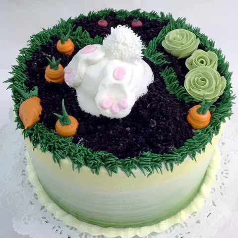 Bunny in the Garden Cake - The Home Bakery