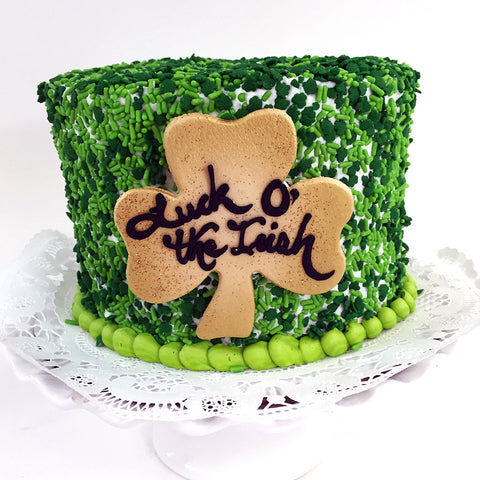 Confetti Shamrocks Cake - The Home Bakery